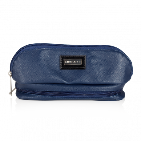 Cosmetic Bag Dark Blue with Mirror (R23388)