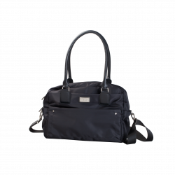 Väska med mindre makeupväskor, Svart