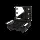 Makeup Suitcase with Wheels Black (KC-58ML)