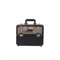 Makeup Case Leaopard Leather Pattern (KC-156)