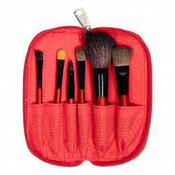 Travel Brush Set (6 PCS) RED