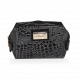 Cosmetic Bag Snake Skin Pattern Black (R23695)