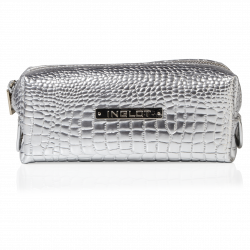 Cosmetic Bag Crocodile Leather Pattern Silver Small (R24393) icon